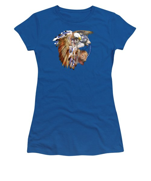 Freedom Lives Women's T-Shirt (Junior Cut) by Carol Cavalaris