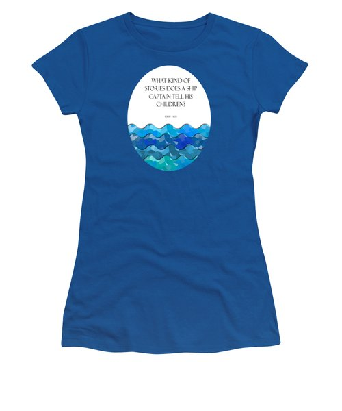 Maritime Humor For A Nursery Room Women's T-Shirt (Junior Cut) by Liesl Marelli