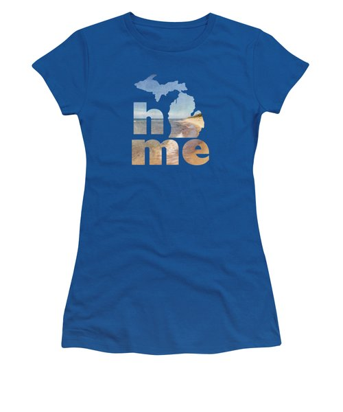 Michigan Home Women's T-Shirt (Junior Cut) by Emily Kay