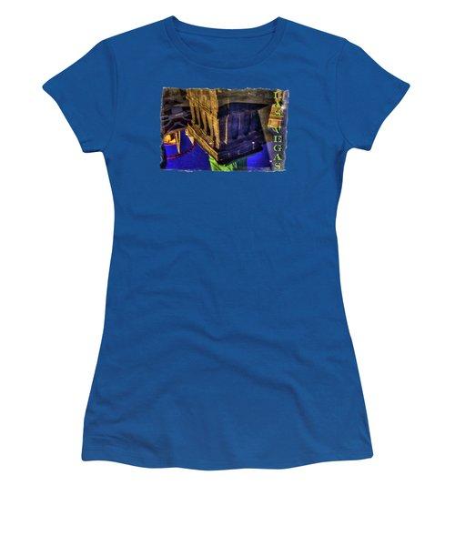 Statue Of Liberty Las Vegas Reflections Women's T-Shirt (Junior Cut) by Roger Passman