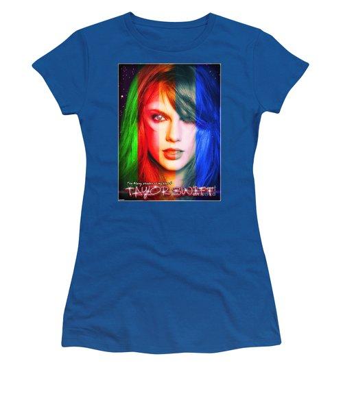 Taylor Swift - Sparks Alt Version Women's T-Shirt (Junior Cut) by Robert Radmore