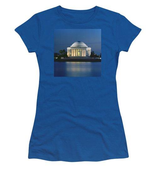 The Jefferson Memorial Women's T-Shirt (Junior Cut) by Peter Newark American Pictures