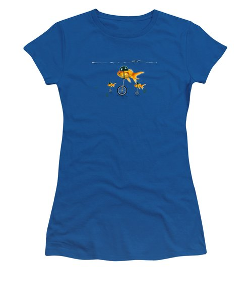 The Race  Women's T-Shirt (Junior Cut) by Mark Ashkenazi