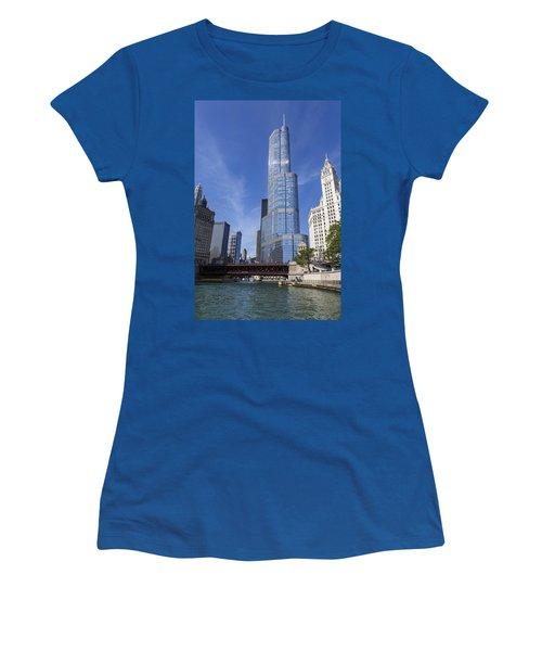 Trump Tower Chicago Women's T-Shirt (Junior Cut) by Adam Romanowicz