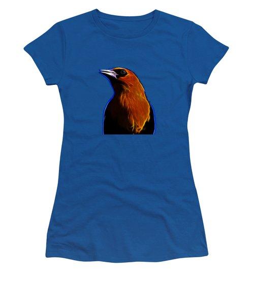 Yellow Headed Blackbird Women's T-Shirt (Junior Cut) by Shane Bechler