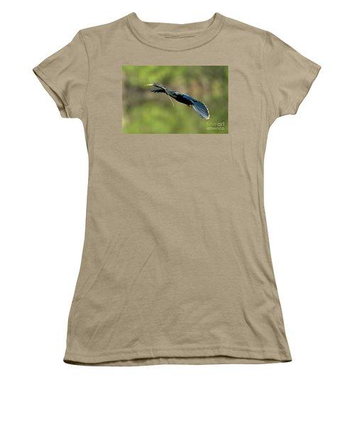 Anhinga Women's T-Shirt (Junior Cut) by Anthony Mercieca