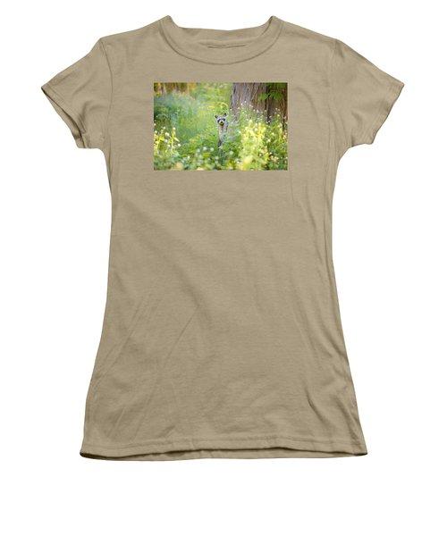 Peek A Boo Women's T-Shirt (Junior Cut) by Carrie Ann Grippo-Pike