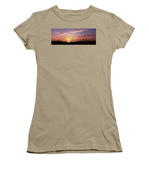 Sunset Over The Sea, Venice Beach Women's T-Shirt (Junior Cut) by Panoramic Images
