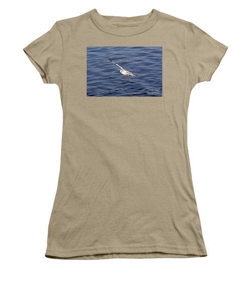 Flying Gull Women's T-Shirt (Junior Cut) by Michal Boubin
