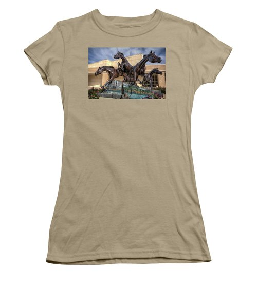 A Monument To Freedom Women's T-Shirt (Junior Cut) by Joan Carroll