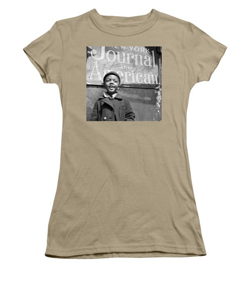 A Young Harlem Newsboy Women's T-Shirt (Junior Cut) by Underwood Archives