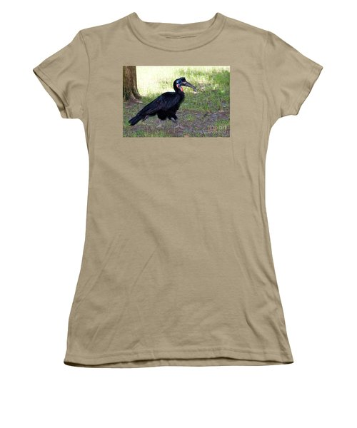Abyssinian Ground-hornbill Women's T-Shirt (Junior Cut) by Gregory G. Dimijian
