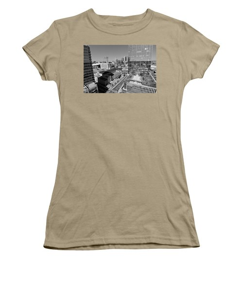 Aerial Photography Downtown Nashville Women's T-Shirt (Junior Cut) by Dan Sproul