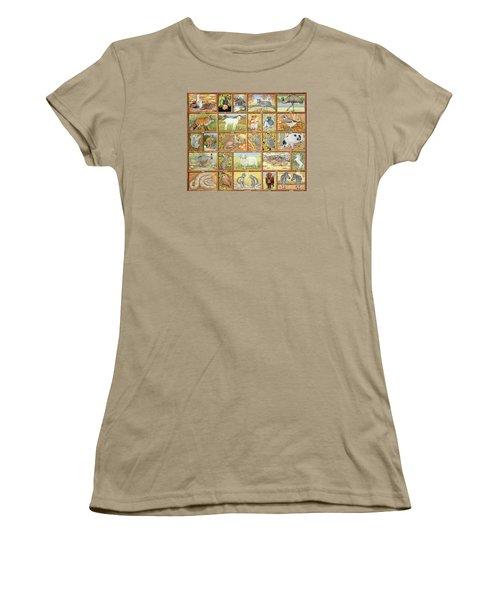 Alphabetical Animals Women's T-Shirt (Junior Cut) by Ditz