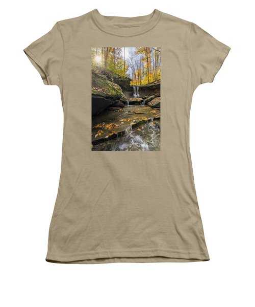 Autumn Flows Women's T-Shirt (Junior Cut) by James Dean