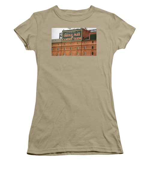 Baltimore Orioles Park At Camden Yards Women's T-Shirt (Junior Cut) by Frank Romeo