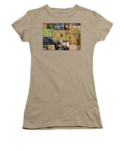 Collage Marsh Life Women's T-Shirt (Junior Cut) by Carol Groenen