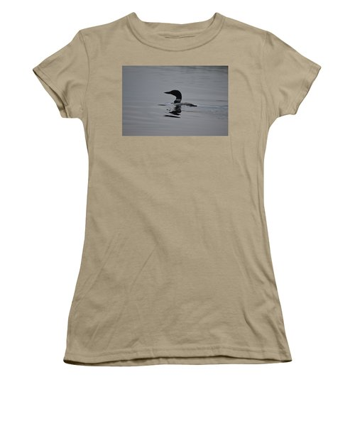 Common Loon Women's T-Shirt (Junior Cut) by James Petersen