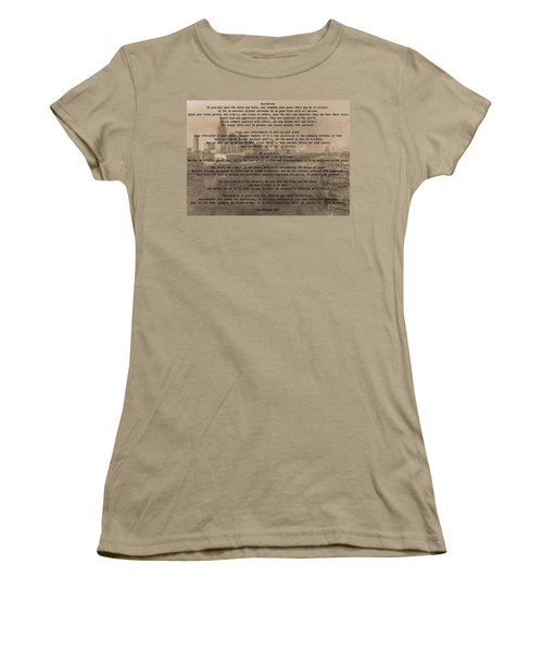Desiderata Nashville Women's T-Shirt (Junior Cut) by Dan Sproul
