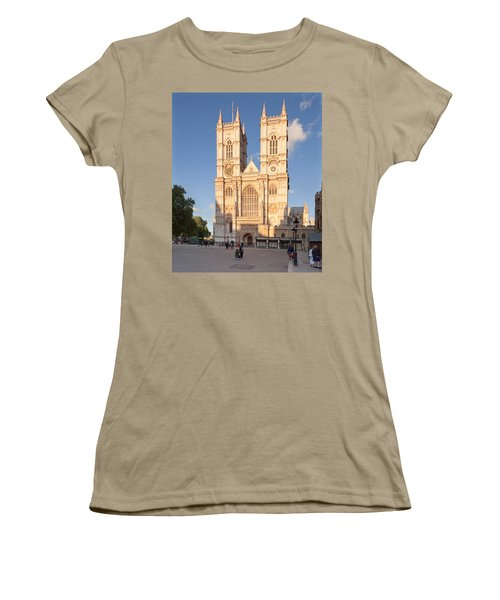 Facade Of A Cathedral, Westminster Women's T-Shirt (Junior Cut) by Panoramic Images