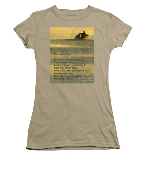 Fisherman's Prayer Women's T-Shirt (Junior Cut) by Robert Frederick