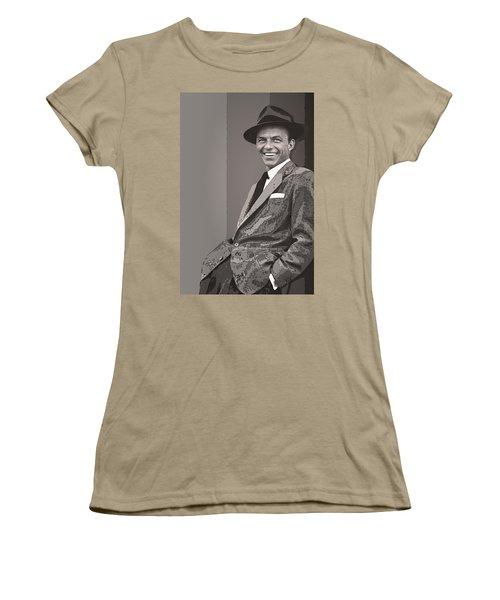 Frank Sinatra Women's T-Shirt (Junior Cut) by Daniel Hagerman