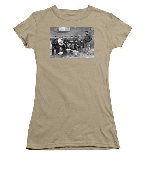 Germans Peeling Potatoes Women's T-Shirt (Junior Cut) by Underwood Archives