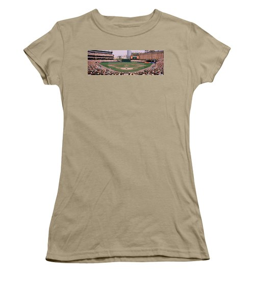 High Angle View Of A Baseball Field Women's T-Shirt (Junior Cut) by Panoramic Images