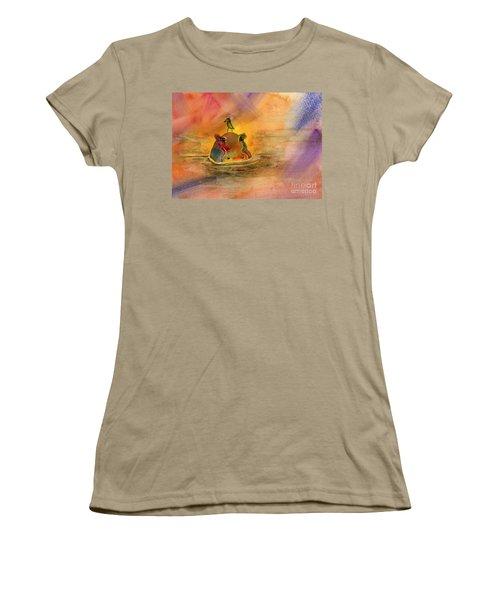 Hippo Birdie Women's T-Shirt (Junior Cut) by Amy Kirkpatrick