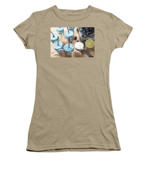 Homemade Blueberry Popsicles Women's T-Shirt (Junior Cut) by Juli Scalzi