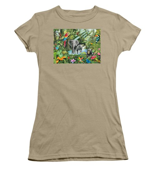Jungle Women's T-Shirt (Junior Cut) by Mark Gregory