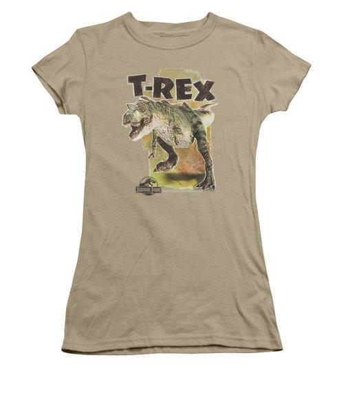 Jurassic Park - T Rex Women's T-Shirt (Junior Cut) by Brand A