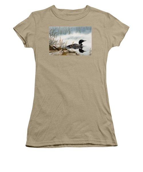 Loons Misty Shore Women's T-Shirt (Junior Cut) by James Williamson
