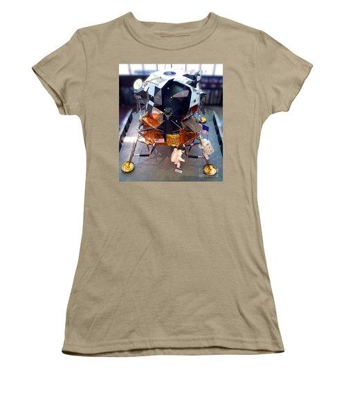 Lunar Module Women's T-Shirt (Junior Cut) by Kevin Fortier