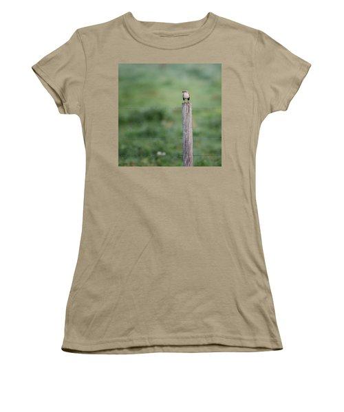 Minimalism Mockingbird Women's T-Shirt (Junior Cut) by Bill Wakeley