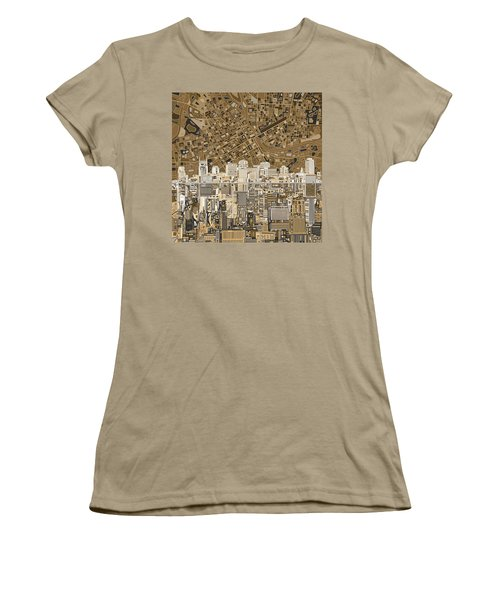 Nashville Skyline Abstract 2 Women's T-Shirt (Junior Cut) by Bekim Art
