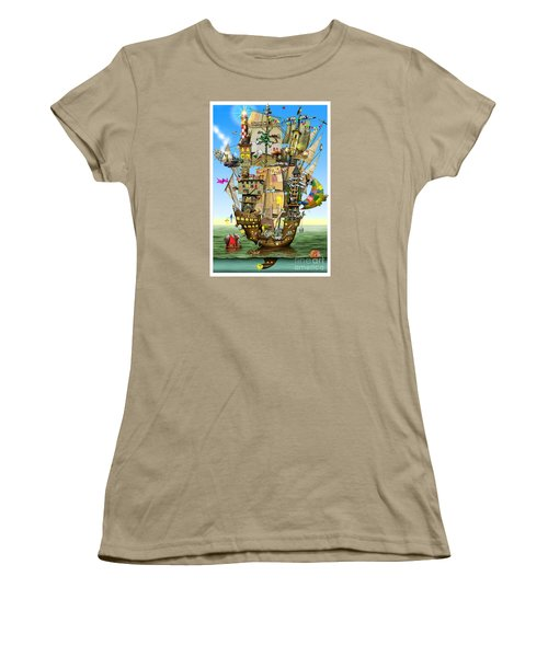 Norah's Ark Women's T-Shirt (Junior Cut) by Colin Thompson
