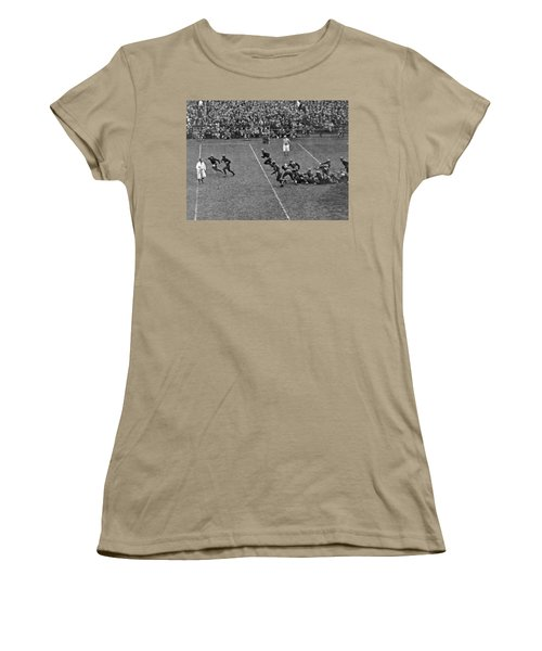 Notre Dame Versus Army Game Women's T-Shirt (Junior Cut) by Underwood Archives
