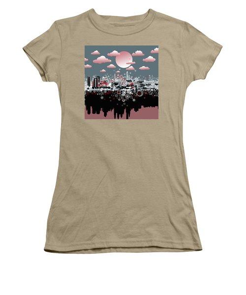 Philadelphia Skyline Abstract 6 Women's T-Shirt (Junior Cut) by Bekim Art