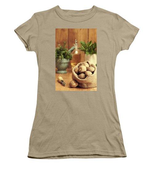 Potatoes Women's T-Shirt (Junior Cut) by Amanda Elwell
