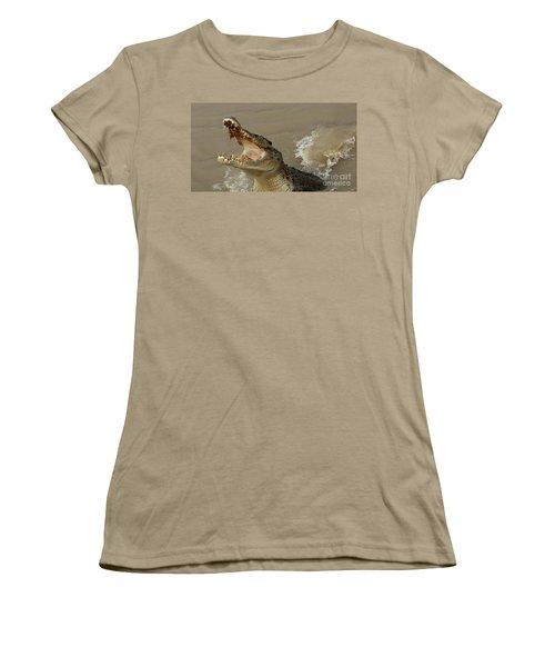 Salt Water Crocodile 2 Women's T-Shirt (Junior Cut) by Bob Christopher