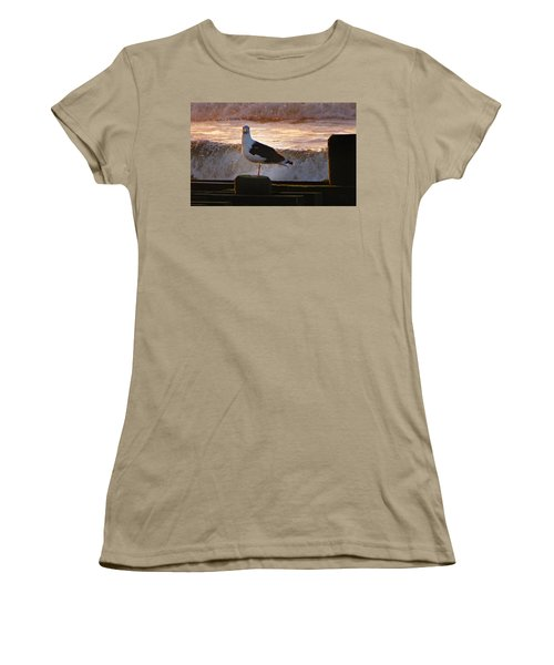 Sittin On The Dock Of The Bay Women's T-Shirt (Junior Cut) by David Dehner