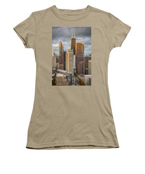 Streeterville From Above Women's T-Shirt (Junior Cut) by Adam Romanowicz