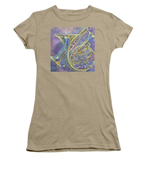 Three Horns Women's T-Shirt (Junior Cut) by Jenny Armitage