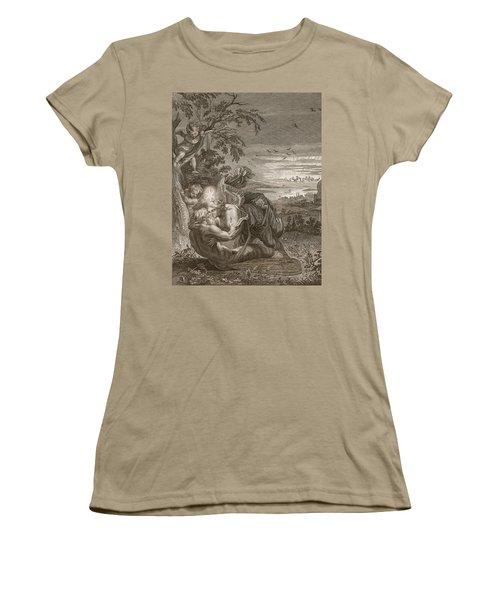 Tithonus, Auroras Husband, Turned Into A Grasshopper Women's T-Shirt (Junior Cut) by Bernard Picart