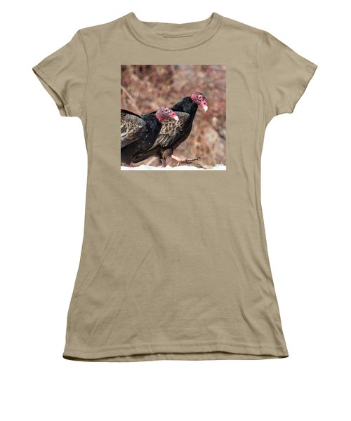 Turkey Vultures Square Women's T-Shirt (Junior Cut) by Bill Wakeley