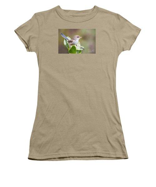 White Winged Fairy Wren Women's T-Shirt (Junior Cut) by Kym Clarke