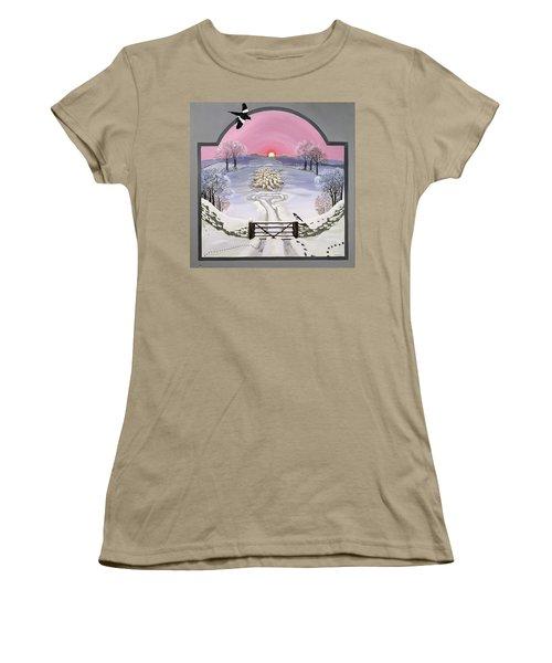 Winter Women's T-Shirt (Junior Cut) by Maggie Rowe