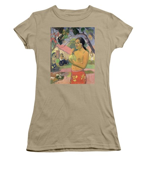Woman With Mango Women's T-Shirt (Junior Cut) by Paul Gauguin