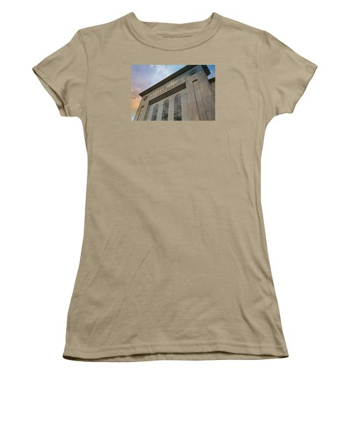 Yankee Stadium Women's T-Shirt (Junior Cut) by Stephen Stookey